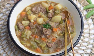Cách làm súp thịt bò rau củ đậm đà thơm mềm