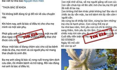TP.HCM xử phạt 2 chủ tài khoản facebook đăng thông tin sai sự thật vụ