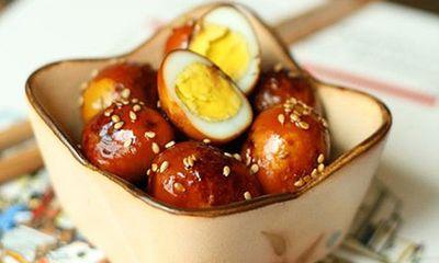 Cách làm món trứng cút om nước tương đậm đà