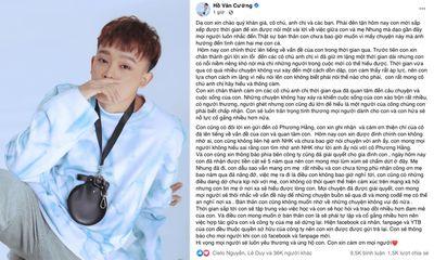 Hồ Văn Cường chính thức dừng hợp tác với công ty Phi Nhung, gửi trả fanpage và kênh Youtube