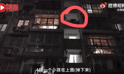 Clip: Người đàn ông lớn tuổi đỡ cậu bé nặng 80kg rơi từ tầng 4, danh tính khiến dân mạng trầm trồ