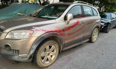 Hà Nội: Công an điều tra vụ hàng loạt xe ô tô bị tạt sơn tại khu đô thị Trung Văn
