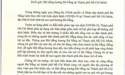 Chủ tịch Đà Nẵng gửi tâm thư cho Hội đồng hương tại TP.HCM, lên phương án đón bà con về quê