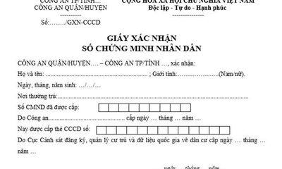 Dùng thẻ CCCD gắn chíp, có cần xin xác nhận số CMND?