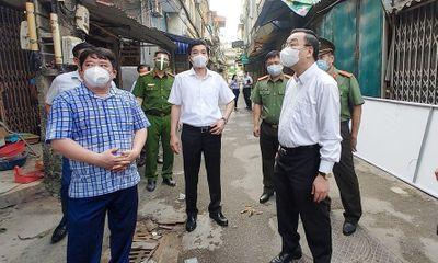 Chủ tịch Hà Nội Chu Ngọc Anh thị sát điểm nóng COVID-19 nguy cơ nhất Thủ đô hiện nay