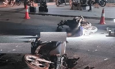 Xe máy đầu đầu kinh hoàng ở Thanh Hóa, 2 người chết