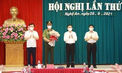 Giám đốc Công an Nghệ An được chỉ định tham gia Ban Thường vụ Tỉnh ủy