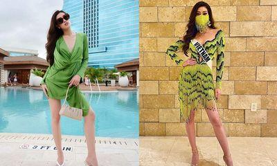 BTC Miss Universe chuẩn bị váy quá rộng cũng không làm khó được Khánh Vân khoe chân dài miên man
