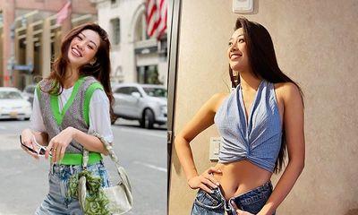Khánh Vân bị kẹt lại tại Mỹ, sụt cân đến mức không mặc vừa quần