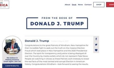 Ra mắt chưa đầy tháng, trang web cá nhân của ông Trump đã bị sập