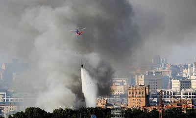 Nga: Cháy dữ dội tại nhà kho chứa hơn chục tấn pháo hoa ở Moscow