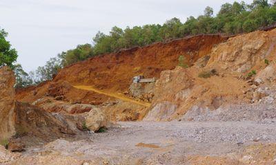 Xã hội - Nông Cống - Thanh Hóa: Lợi dụng giấy phép, phá núi Phú Viên