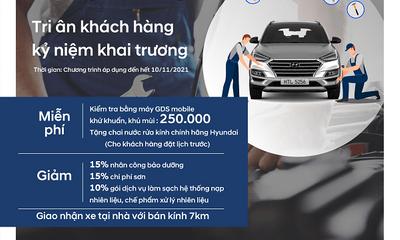 Chương trình khuyến mãi dịch vụ tháng 10 tại Hyundai Thái Nguyên.