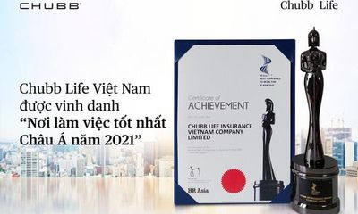 """Chubb Life Việt Nam hai năm liên tiếp được vinh danh """"Nơi làm việc tốt nhất Châu Á"""""""