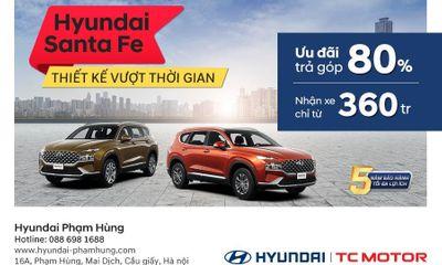 Ưu đãi trả góp 80%, Nhận Hyundai Santafe chỉ từ 360 triệu đồng.