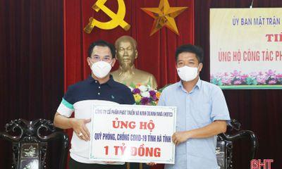 Doanh nghiệp, cá nhân ở TP Hồ Chí Minh ủng hộ Hà Tĩnh 2 tỷ đồng phục vụ phòng, chống dịch