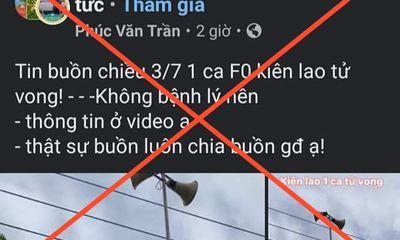 Bắc Giang bác tin ca bệnh COVID-19 không bệnh nền trên địa bàn tỉnh tử vong