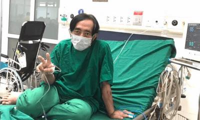Nghệ sĩ Giang Còi đính chính thông tin điều trị ở BV Phổi Hà Nội, gầy rộc sau thời gian chống chọi với ung thư