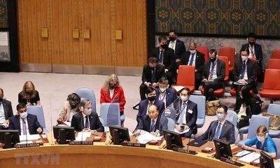 Chủ tịch nước khuyến nghị 3 nhóm giải pháp cho an ninh khí hậu