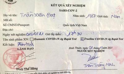 Vụ làm giả kết quả xét nghiệm COVID-19 ở Bình Thuận: Bắt giữ thêm 5 đối tượng liên quan