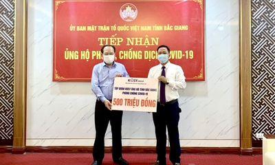 Tập đoàn Kosy ủng hộ tỉnh Bắc Giang 500 triệu đồng phòng chống dịch Covid-19