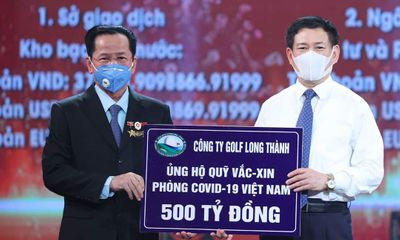 Cựu chiến binh AHLĐ Lê Văn Kiểm, Chủ tịch Golf Long Thành ủng hộ 500 tỷ đồng vào Quỹ Vắc-xin phòng chống dịch Covid-19