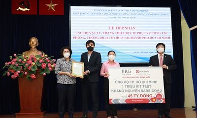 Tập đoàn BRG và Ngân hàng SeABank ủng hộ 1 triệu kit test kháng nguyên SARS-COV-2 trị giá 45 tỷ đồng cho Thành phố Hồ Chí Minh