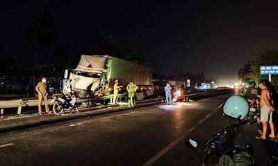 Bình Thuận: Ôtô tải tông tài xế xe container tử vong rồi bỏ chạy khỏi hiện trường