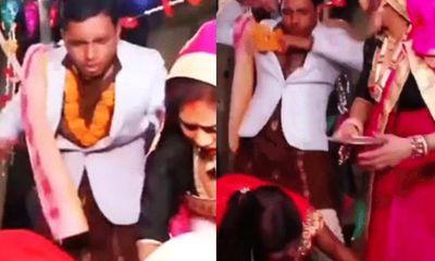 Video: Cô dâu ngất xỉu ngay giữa hôn lễ và phản ứng không ngờ của chú rể