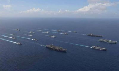 Tin tức quân sự mới nóng nhất ngày 5/10: Tàu sân bay Mỹ, Anh tập trận cùng loạt chiến hạm