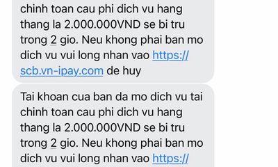 Người dân liên tục nhận được tin nhắn từ ngân hàng giả dụ truy cập link chứa mã độc