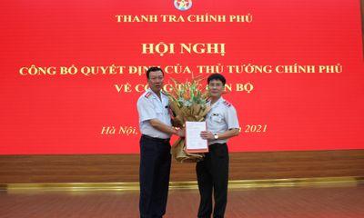 Ông Lê Sỹ Bảy nhận quyết định bổ nhiệm Phó Tổng Thanh tra Chính phủ