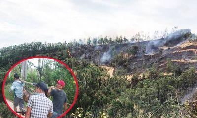 Phát hiện một người tử vong trong vụ cháy rừng keo tại Quảng Nam