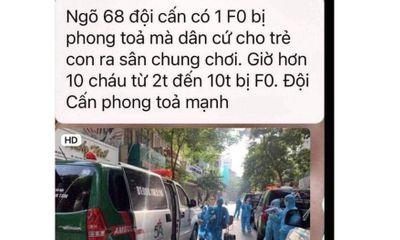 Tin tức thời sự mới nóng nhất hôm nay 18/8: Bác tin đồn 10 trẻ em ở Đội Cấn là F0 lan truyền trên MXH