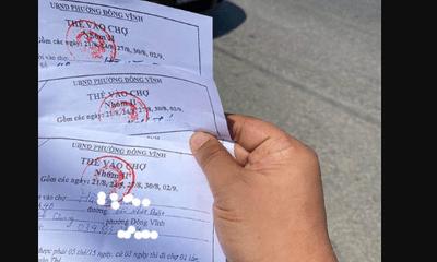Nghệ An: Xử phạt 4 người dùng thẻ vào chợ để