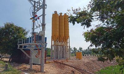 Hương Canh (Bình Xuyên - Vĩnh Phúc): Trạm trộn bê tông xây dựng trái phép trên dự án ODA