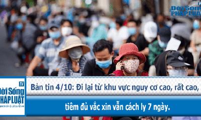 Đi lại từ khu vực nguy cơ cao, rất cao, tiêm đủ vắc xin vẫn cách ly 7 ngày