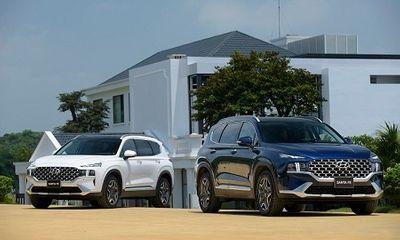 Bảng giá xe ô tô Huyndai mới nhất tháng 7/2021: Hyundai SantaFe 2021 với 6 phiên bản có giá từ 1,030 tỷ đồng