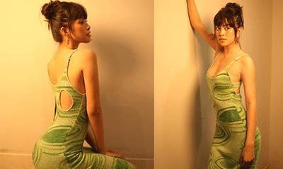 Hoa hậu Tiểu Vy diện váy khoét sâu, khoe trọn 3 vòng