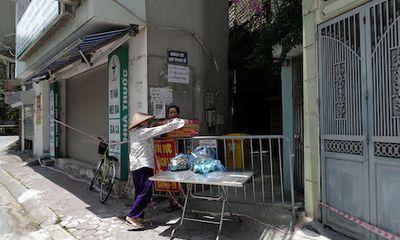 Hà Nội phong tỏa khu dân cư ở phường Thổ Quan với hơn 1.300 nhân khẩu