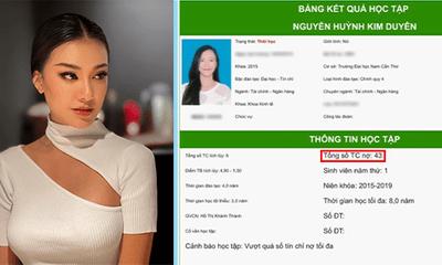 Xôn xao tin đồn Á hậu Kim Duyên lộ bảng điểm