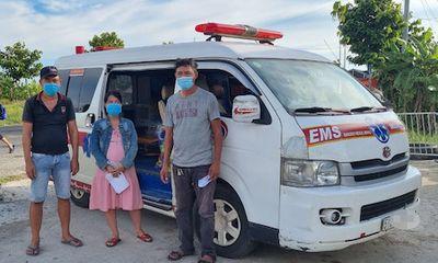 Kiên Giang: Phát hiện 2 xe cứu thương chở người từ vùng dịch về quê
