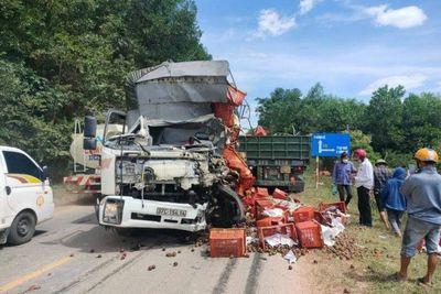 Tin trong nước - Tin tức tai nạn giao thông ngày 13/8: Xe tải đối đầu xe container, một tài xế tử vong