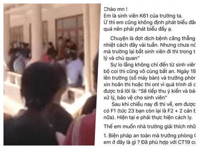 Xôn xao thông tin tổ chức hàng trăm học sinh thi giữa đại dịch, ĐH Vinh nói gì?