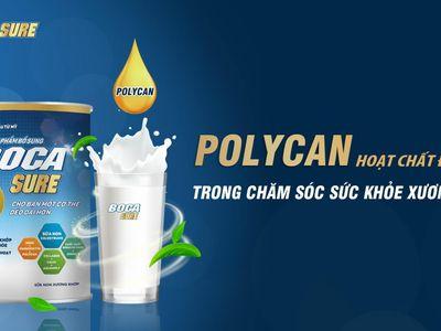 Tăng cường sức khỏe xương khớp nhờ sự kết hợp của Polycan® với các dưỡng chất trong sữa non BocaSure