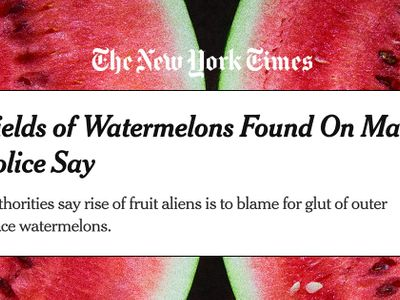 Vừa đăng tin về vườn dưa hấu trên sao Hoả, New York Times đã vội xoá vì lý do khiến nhiều người bật cười