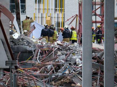 Sập công trình xây dựng trường học ở Bỉ, 5 công nhân thiệt mạng