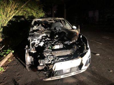 TP.HCM: Bắt đối tượng tưới xăng, đốt ô tô vì ghen tuông với sếp của vợ