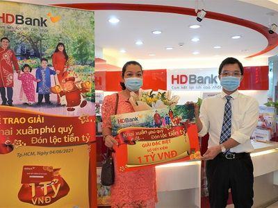Danh sách khách hàng trúng hơn 11 tỷ đồng từ HDBank