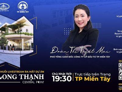 """Xem livestream trúng vàng và """"mua nhà 0 đồng"""" tại dự án Long Thạnh Central Point Hậu Giang"""
